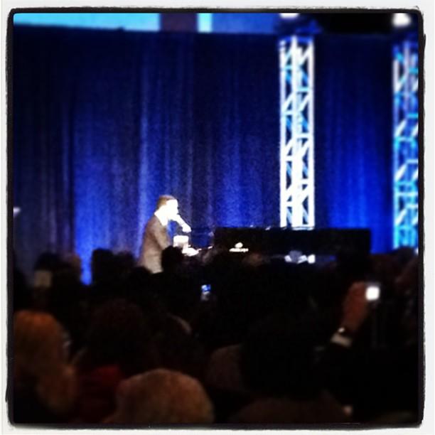 John Legend performing