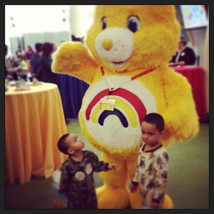 children with Bo, The Take Care Bear