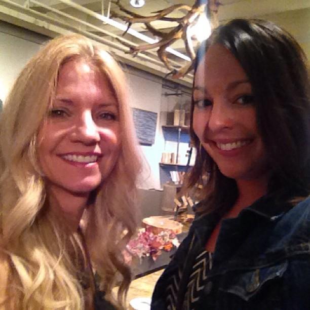 With artist Susie Frazier