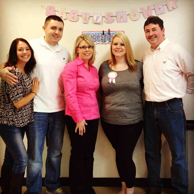 My family and me at Baby Khloe's Baby Shower!