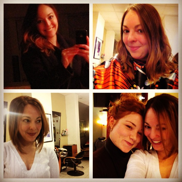 Chopping my hair off to start off the New Year. Thanks to my friend & stylist Taylor Roby! January, 2013