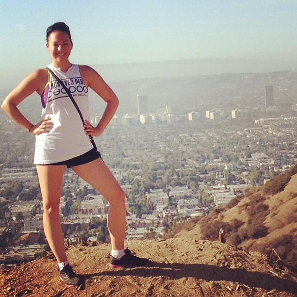 At the top of Runyon Canyon in Los Angeles. Sept., 2013