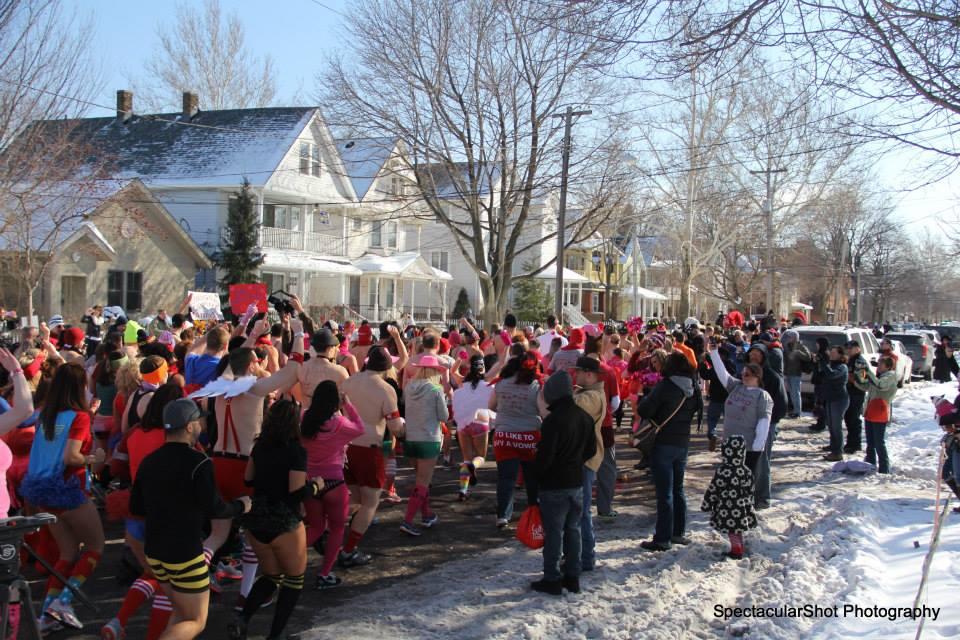Cupid's Undie Run Cleveland! Photographer: Michael S. Krokey