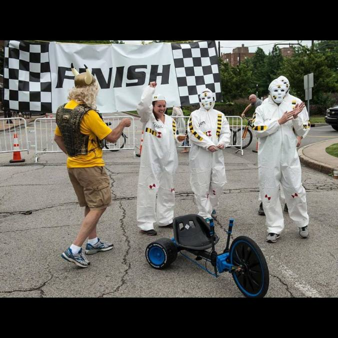 Competing in the Cleveland Adult Big Wheels Competition, June 2015