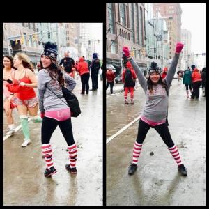 Leah in her Undies at the Cupid's Undie Run 2016