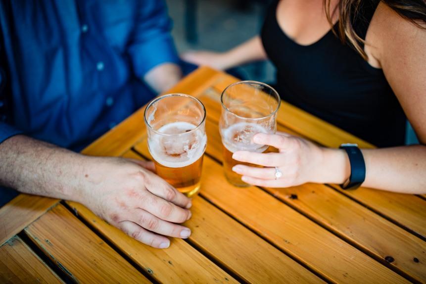 toasting beers